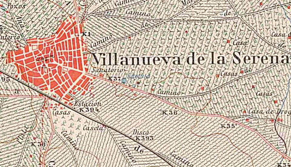 Villanueva De La Serena Mapa De 1940 Celtiberia Net