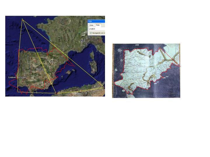Mapa de ptolomeo hispania (comparación)