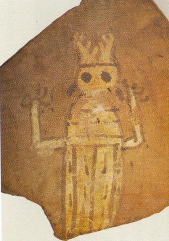 Dios astado en cerámica numantina